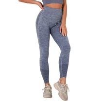 Navy Blue Seamless Knit Yoga Sports Pant TQE780188-34