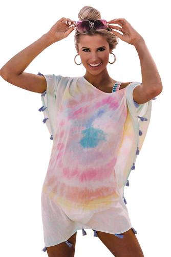 Pink Seaside Starlet Tie-dye Tunic LC42500-10