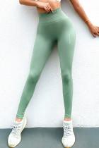 Green High Waist Sports Yoga Leggings LC263853-9