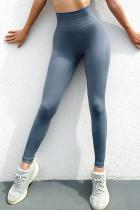 Blue High Waist Sports Yoga Leggings LC263853-4
