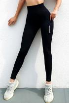 Black High Waist Sports Yoga Leggings LC263853-2