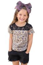 Kids Leopard Lace Up Top by Crazy Train TZ25303-20