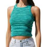 Aquamarine Slim Fit Colorful Tank Sweater TQK250146-45