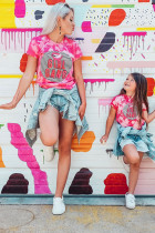 Family Matching Daughter's Girl Gang Graphic Tee TZ25327-6