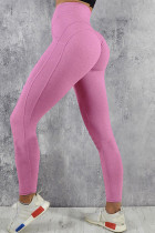 Pink High Waist Push up Yoga Workout Leggings LC263880-10