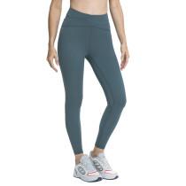 Forest Gray Green Cross High Waist Splice Mesh Sport Pants TQE610199-92