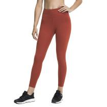 Rust Red Cross High Waist Splice Mesh Sport Pants TQE610199-33