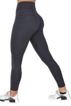 Black High Waist Push up Yoga Workout Leggings LC263880-2