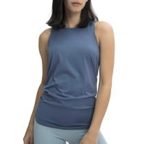 Slate Blue Back Bowknot Breathable Sports Tank TQE110205-55