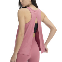 Twilight Red Back Bowknot Breathable Sports Tank TQE110205-214