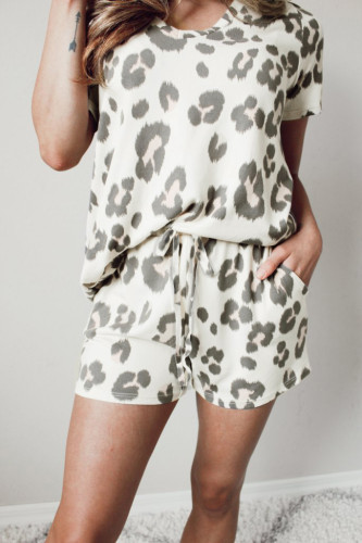 Casual Leopard Print Summer Lounge Set LC4511251-20
