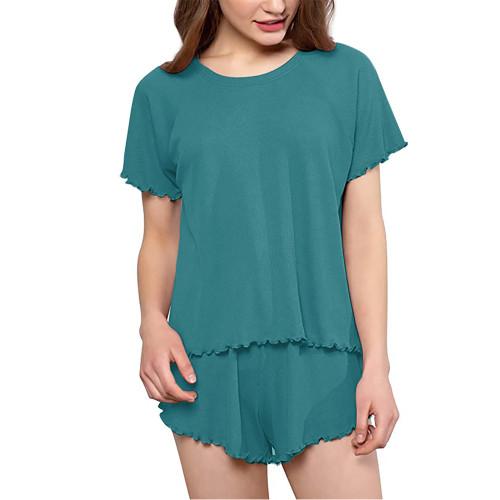 Aquamarine INS Style Short Sleeve Loungewear Set TQK710342-45