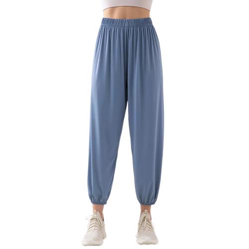 Blue Breathable Lightweight Jogger Pants TQE71333-5