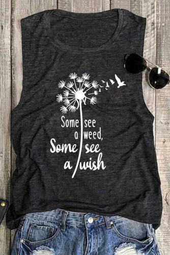 Some See A Weed Some See A Wish Dandelion Tank LC2561213-11