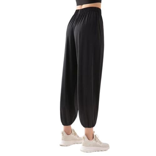 Black Breathable Lightweight Jogger Pants TQE71333-2