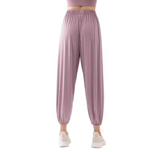 Pink Breathable Lightweight Jogger Pants TQE71333-10