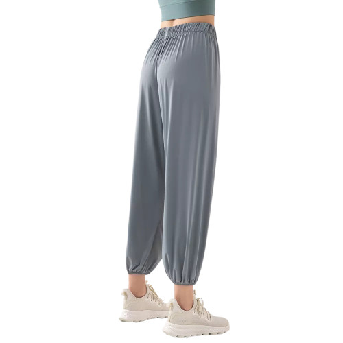 Gray Breathable Lightweight Jogger Pants TQE71333-11