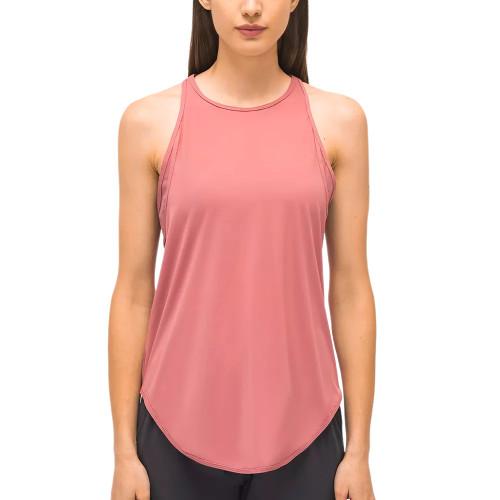 Peach Back Mesh Quick Dry Sleeveless Yoga Tops TQE71331-104