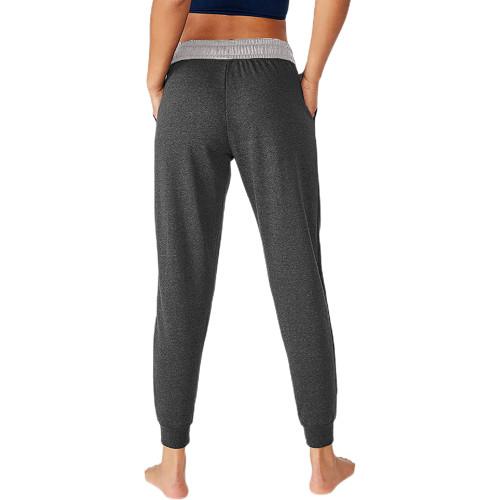 Dark Gray Colorblock Drawstring Casual Pants TQK530031-26