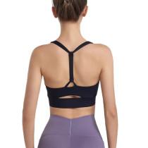 Black Y Back Sports Yoga Bra TQE11342-2