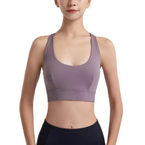 Lilac Y Back Sports Yoga Bra TQE11342-216