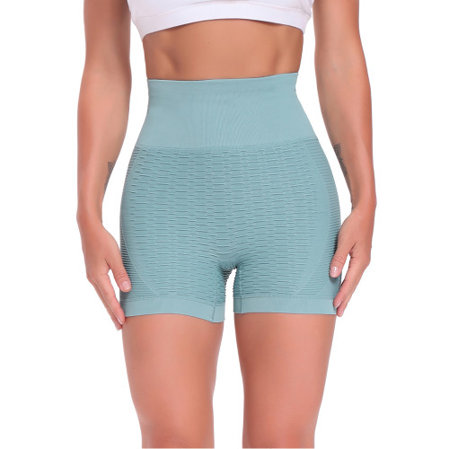 Aquamarine Bubble Texture Sprot Shorts TQK530034-45
