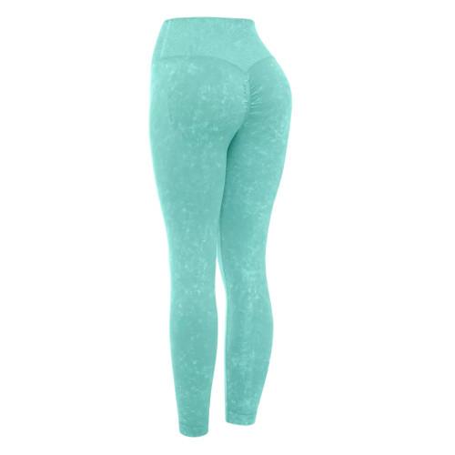 Aquamarine Water Wash Seamless Yoga Pants TQE71347-45