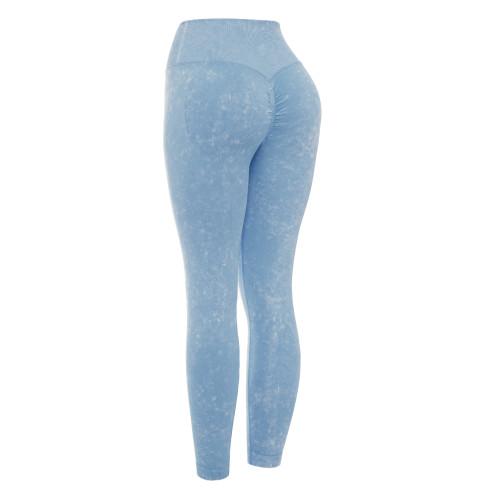 Lake Blue Water Wash Seamless Yoga Pants TQE71347-110