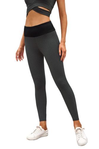 Black High Waisted Butt Lifting Yoga Gym Leggings LC263637-2