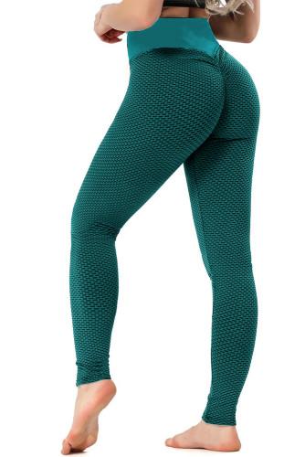 Green High Waisted Butt Lifting Yoga Gym Leggings LC263637-9