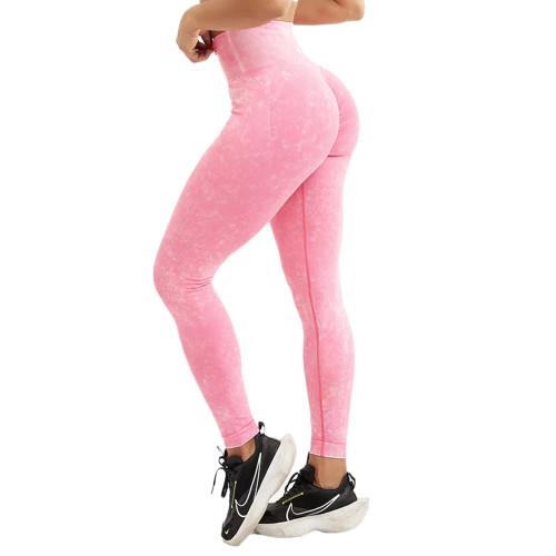 Rosy Water Wash Seamless Yoga Pants TQE71347-6