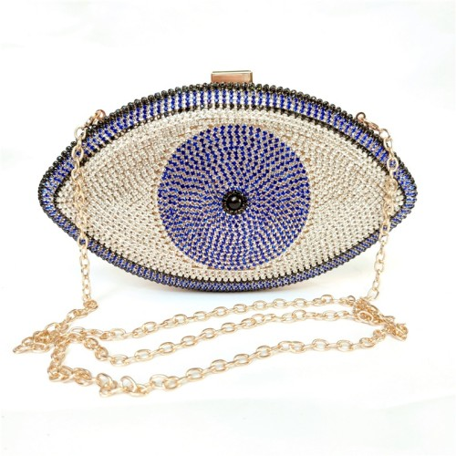 Blue Evil Eye Crystal Mini Evening Bag H21307-5