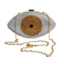 Gold Evil Eye Crystal Mini Evening Bag H21307-12