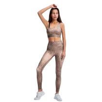 Yellow Oblique Shoulder Bra and Pant Yoga Set TQE91357-7