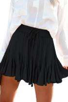 Black Korean High Waist Tutu Pleated Mini Skirt LC65634-2