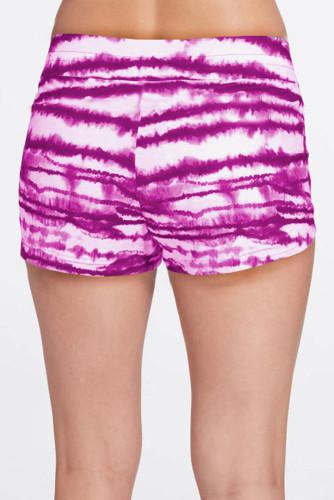 Rose Drawstring Tie-dye Swim Shorts LC472155-6