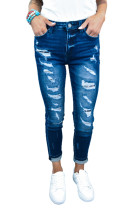 Mid Waist Ripped Skinny Jeans LC781950-5