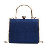 Blue Retro Sparkling Messenger Evening Bag H21294-5