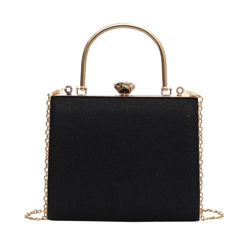 Black Retro Sparkling Messenger Evening Bag H21294-2