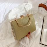 Gold Retro Sparkling Messenger Evening Bag H21294-12