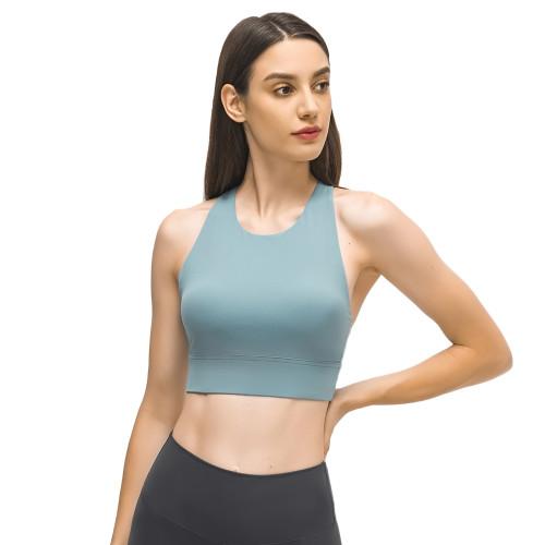 Blue Back Cross Shockproof Sports Yoga Bra TQE11367-5