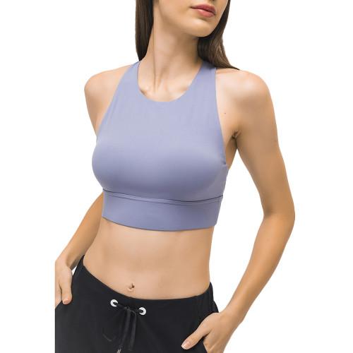 Purple Back Cross Shockproof Sports Yoga Bra TQE11367-8
