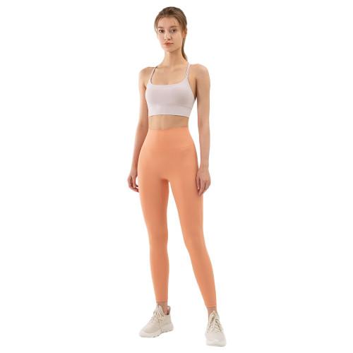 Pink High Waist Tight Yoga Pants TQE11371-10