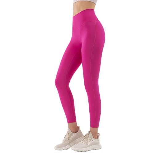 Misty Merlot High Waist Tight Yoga Pants TQE11371-67