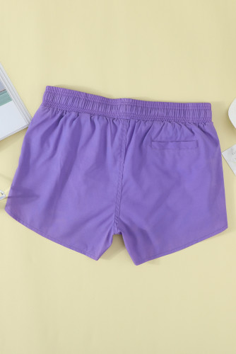 Purple Thermochromic Sports Casual Shorts LC73678-8