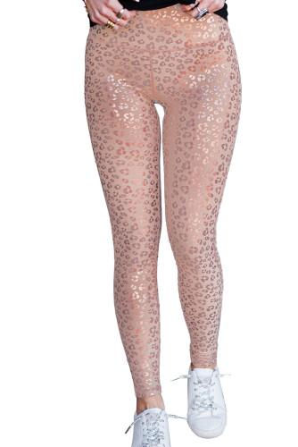 Metallic Leopard Yoga Leggings LC263796-10