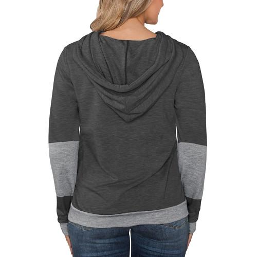 Dark Gray Splice Lightweight Plus Size Drawstring Hoodie TQK810026-26