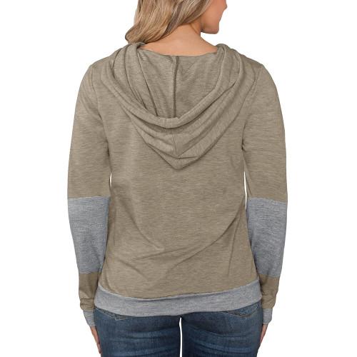 Khaki Splice Lightweight Plus Size Drawstring Hoodie TQK810026-21