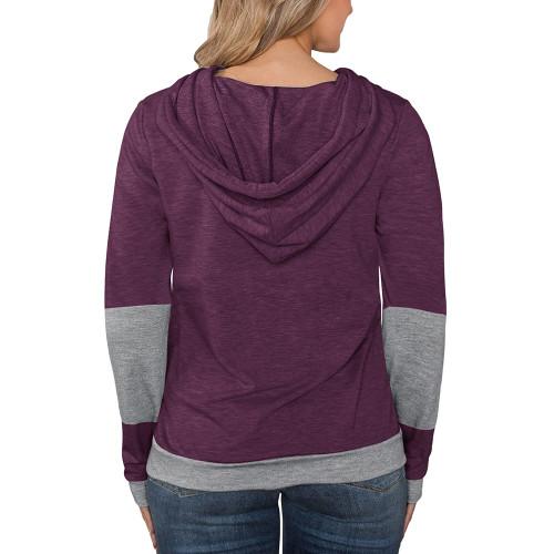 Purple Red Splice Lightweight Plus Size Drawstring Hoodie TQK810026-32