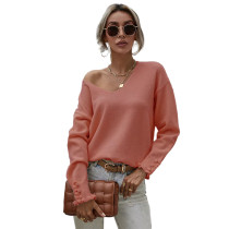 Orange Button Cuff OL Oversized Sweater TQK271285-14